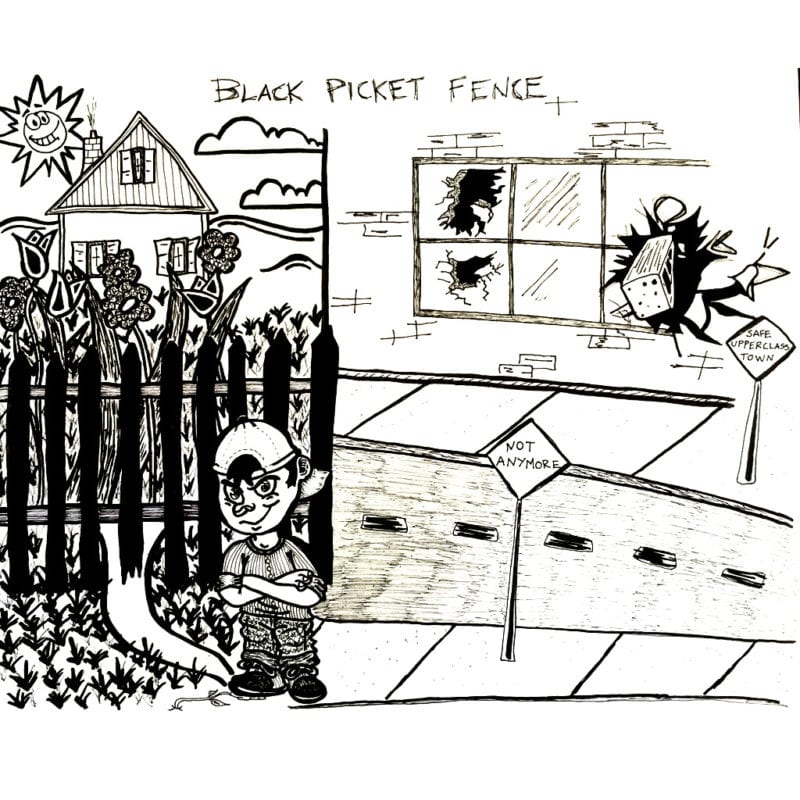 BLACK PICKET FENCE Scrambled Gregs Cartoon
